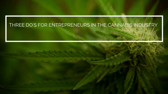Three Do's for Entrepreneurs in the Cannabis Industry
